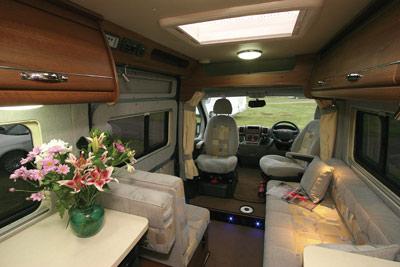 Autosleepers Kemerton interior looking forward