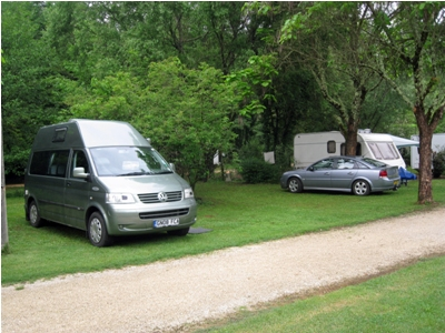 Caravans and motorhomes are welcome