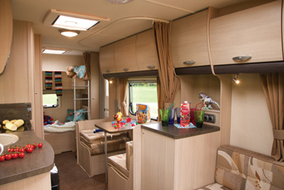 Sterling Europa 570 rear dining and bedroom