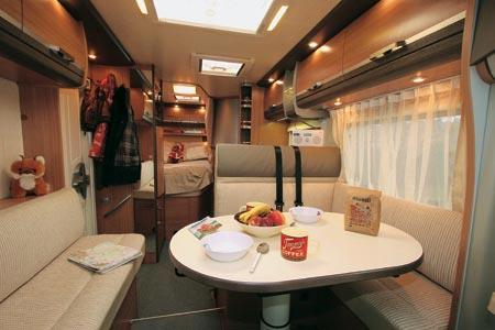 Knaus Sky TI 650 MF dining area and long shot