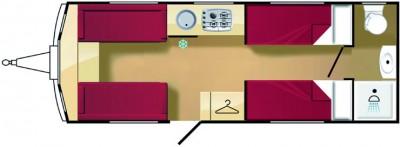Elddis Avante 574 Floorplan