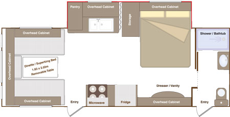 Eterniti 4 Berth Floorplan