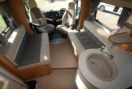 cab seating area