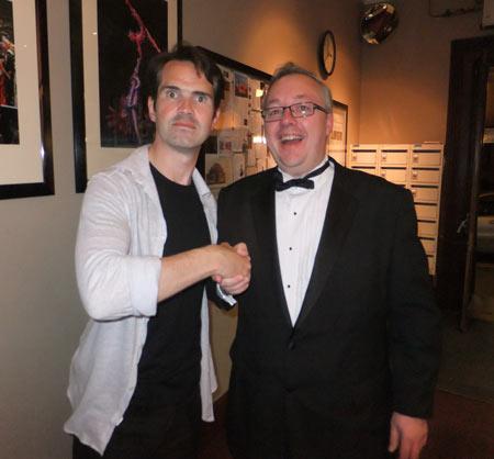 Jimmy Carr meeting Chris of Caravan Guard