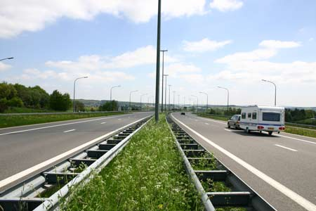 caravan on French motorway