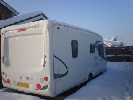 tourer in winter storage