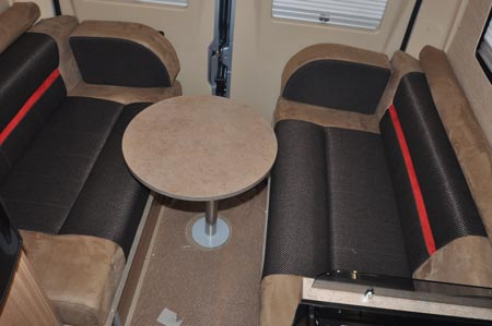 rear seating area