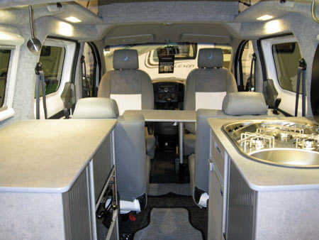 Lunar Vacanza Camper Car Interior Dining Area