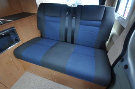 Convertible seats inside Hillside Leisure Ellastone 2013