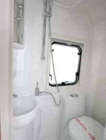 Lunar Ariva two-berth caravan shower room