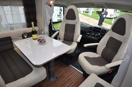 Adria Coral 670SL Motorhome Dining Area