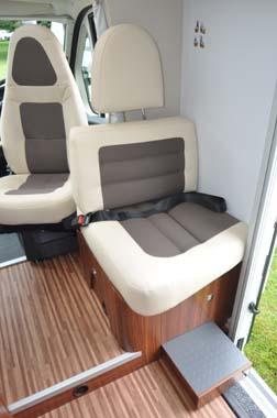 Adria Coral 670SL Motorhome Seating