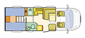 Adria Coral Play 670 SL Floor Plan