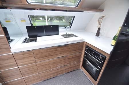 Adria Astella Amazon Glam motorhome kitchen
