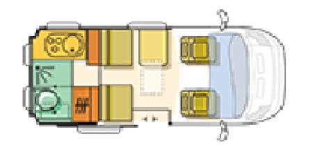 Adria Twin Floor plan