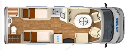 Hymer T-SL 668 floor plan