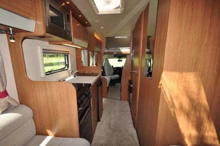 Auto-Trail Imala 720 Interior looking forward