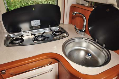 Rapido 665 Motorhome Kitchen