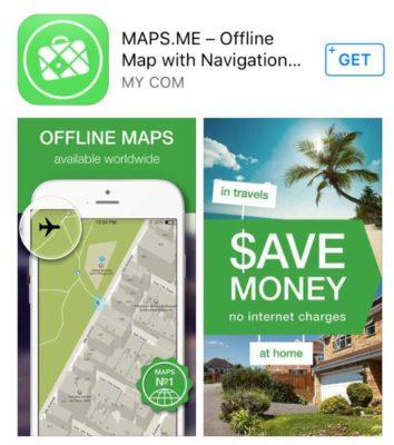 MapsMe app image