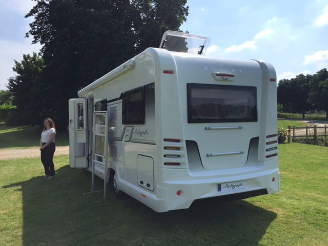 Bailey Autograph motorhome rear side view