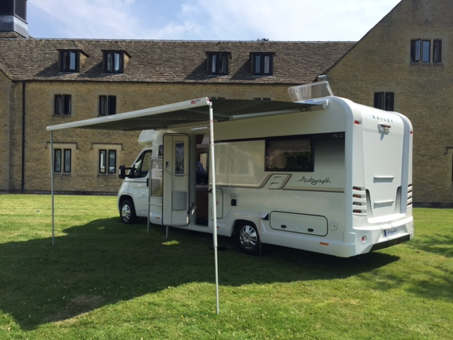 Bailey Autograph motorhome with canopy