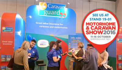 Caravan Guard at NEC show