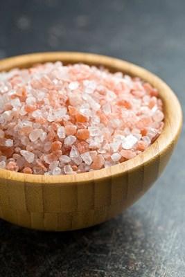 Salt crystals to soak up damp
