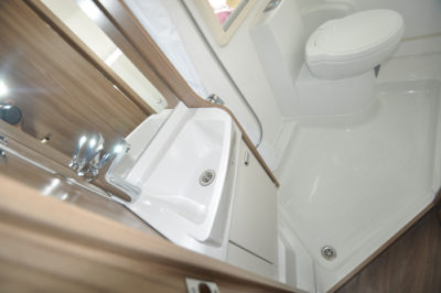 Swift Escape 664 Motorhome Shower room
