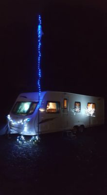 Caravan pole lights