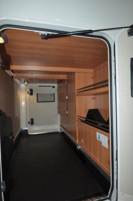 Hymer Van 374 rear storage