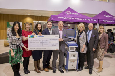 Caravan Guard present cheque to Nano Knife Appeal to fund cancer treatment