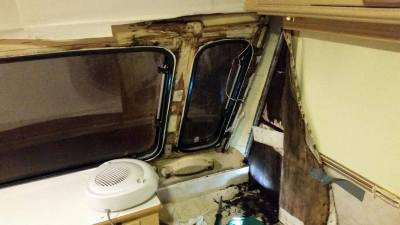 Caravan damp around windows