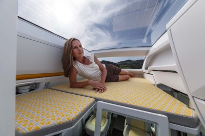 VW California XXL sun roof and bed