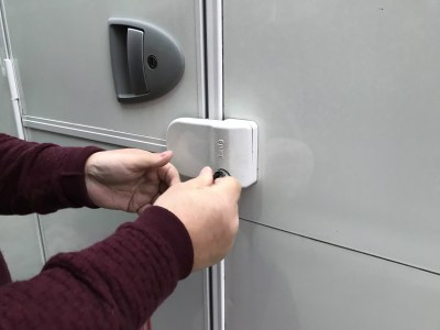 Fiamma door lock on caravan