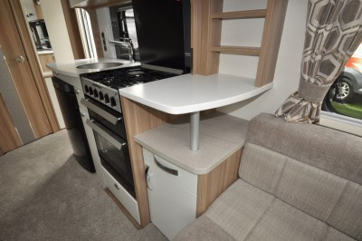 Swift Elegance 530 Kitchen from side