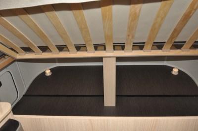 Eriba 310 Edition Under bed storage