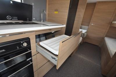 2019 Adria Adora 623 DT Sava caravan kitchen storage 2