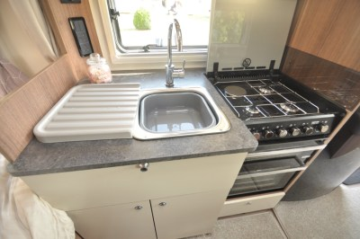 Bailey Pegasus Grande Turin kitchen front