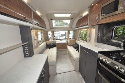 Swift Eccles 480 caravan interior looking forward