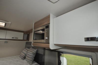 Swift Escape Compact C205 microwave and overhead locker