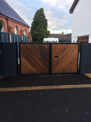 Caravan stored behind locked gates