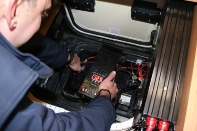 Motorhome battery check