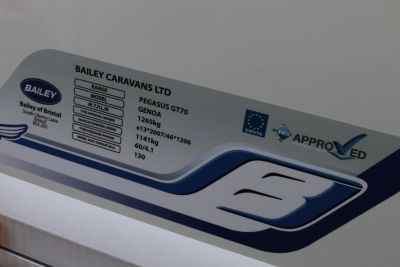 Caravan information plate