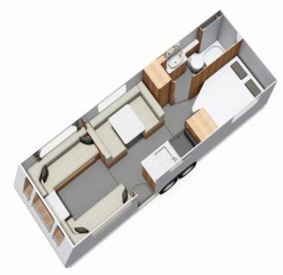 2019 Buccaneer Aruba caravan floorplan