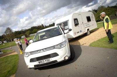 Reversing touring caravan
