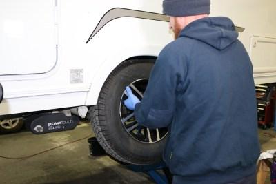 Caravan tyre check