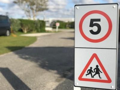 Campsite speed limits