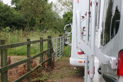 Leave plenty of room behind your motorhome