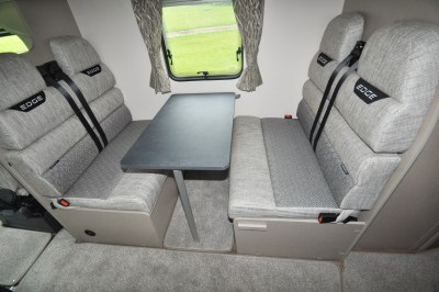 2020 Swift Edge 476 motorhome dinette