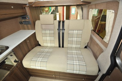2019 VW Caravaggio campervan rear seats/bed